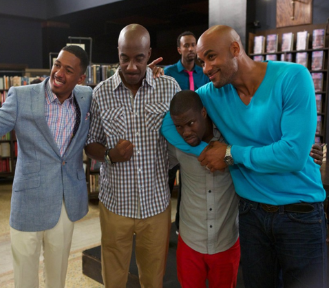 """From L to R: Cast members Nick Cannon, J.B. Smoove, Kevin Hart and Boris Kodjoe star in """"The Real Househusbands of Hollywood,"""" premiering Jan. 15, 10 p.m EST."""