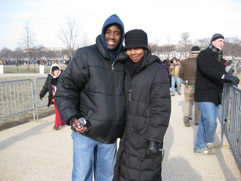 My buddy Rashadd and me braving the elements!