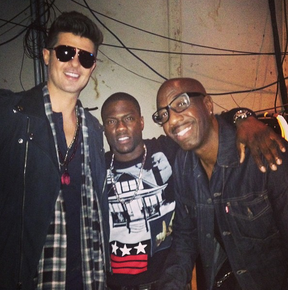 Robin Thicke, Kevin Hart and JB Smoove