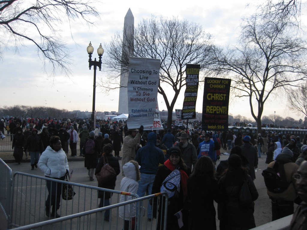 The crowd was amped for the inauguration!