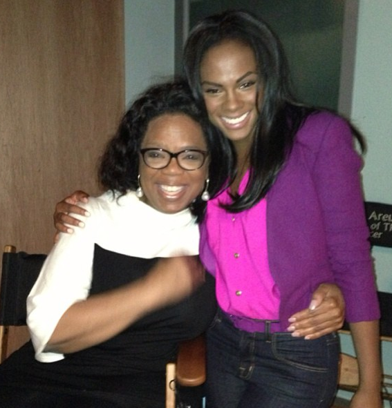 Oprah Winfrey and Tika Sumpter