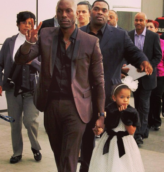 Tyrese and his daughter.