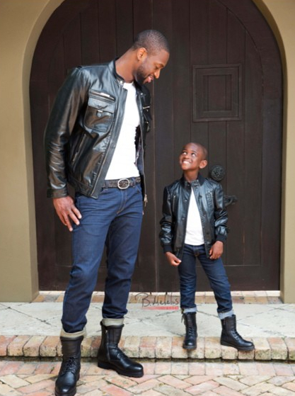 Dwyane Wade with his son, TK.