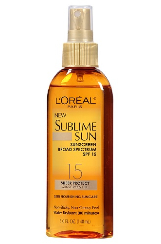 L'Oreal Sublime Sun Sheer Protect Sunscreen Oil Spray, SPF