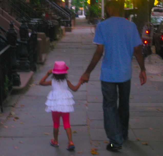 Ava with her dad. While they may not be famous, they're the stars in my life! Love this pic of them.