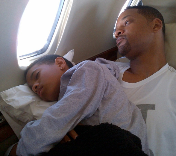 Will Smith with his daughter, Willow.