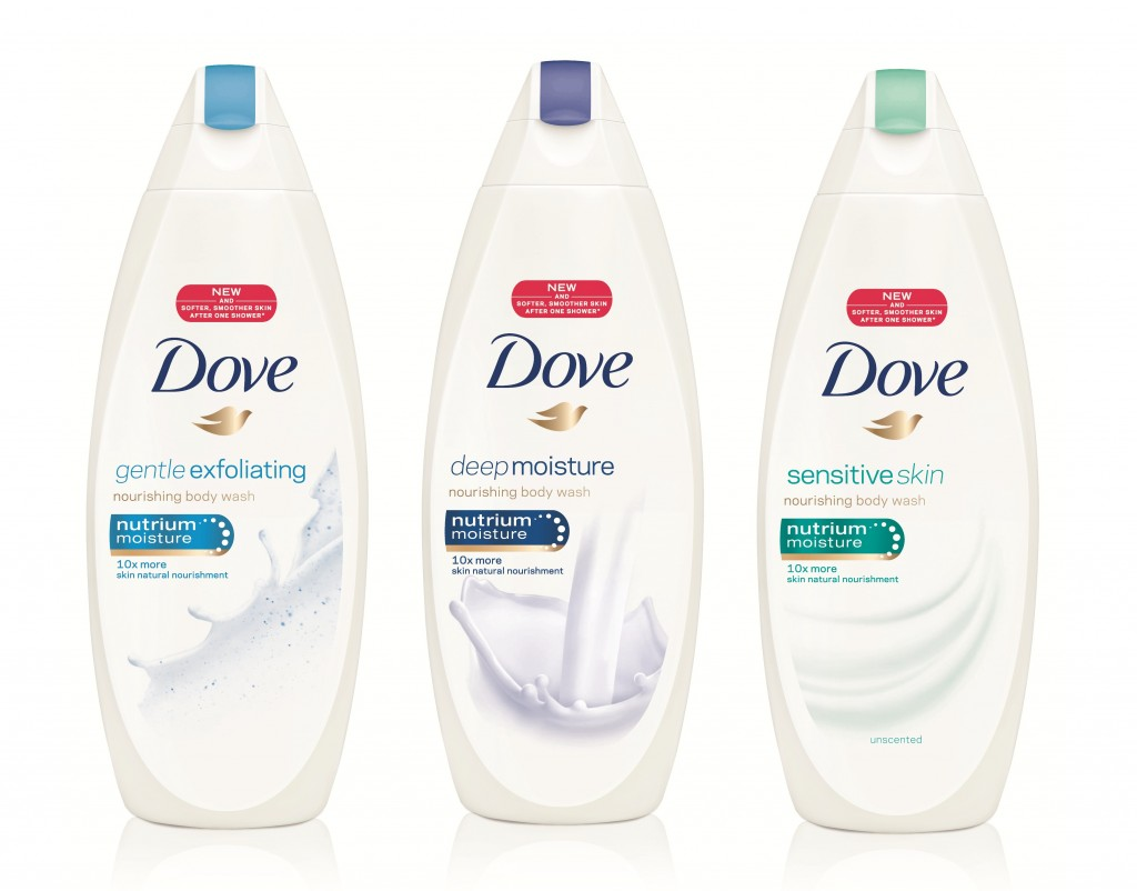 NEW Dove Body Washes are available at food, drug, mass, value, club and online retailers, $6.99.