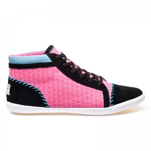 Mo'ne David Women's Pink Lace Up Canvas Sneaker