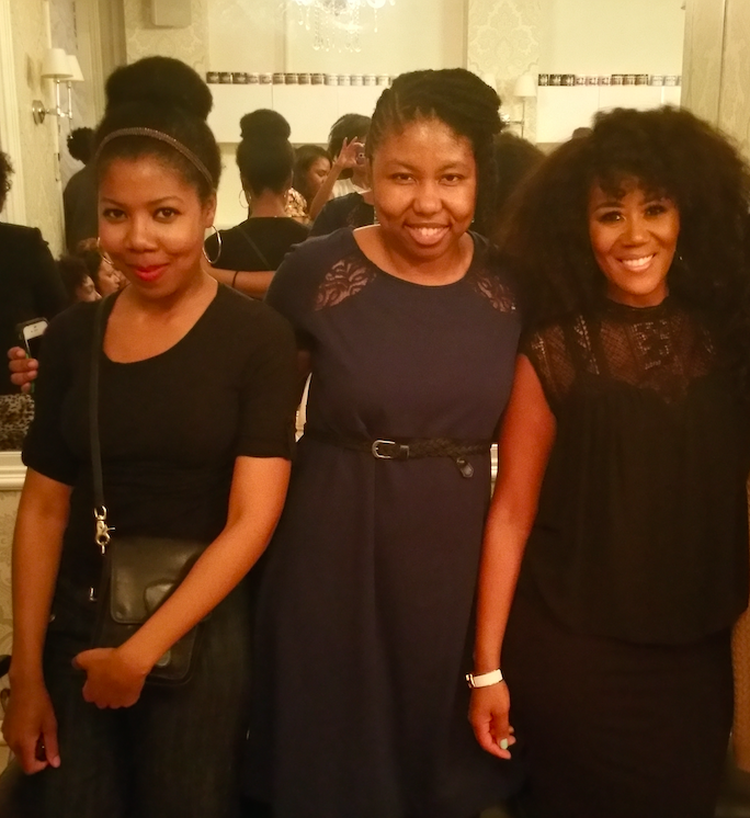 Me, my friend Rashida and Miko Branch at the book release party at the Miss Jessie's salon in New York City on April 16, 2015.