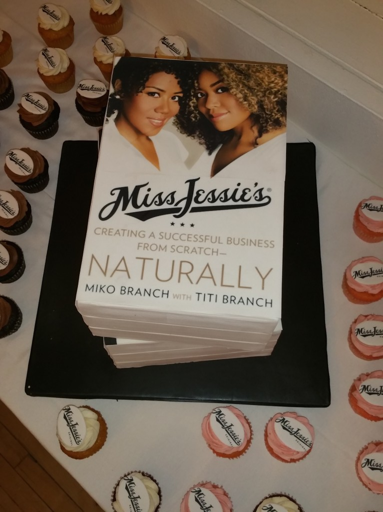 The lovely cake by B Cake NY at the Miss Jessie's book release party on April 16, 2015 in New York City.