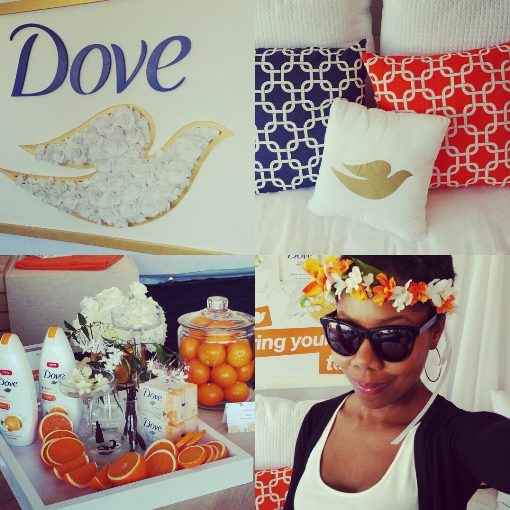 Dove didn't miss a detail with the coordinating and inviting decor.
