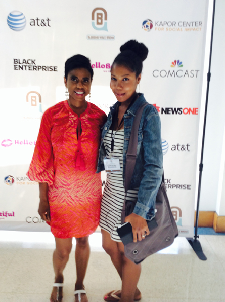 Me and Jacque Reid at the Blogging While Brown conference last year in New York City.