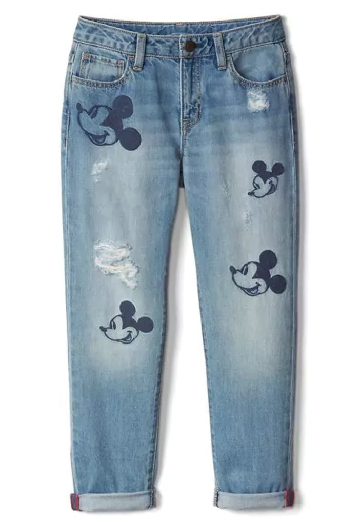 GapKids | Disney Mickey Mouse embroidered girlfriend jeans